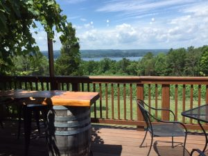 Balcony at Silver Thread Vineyards, Caywood