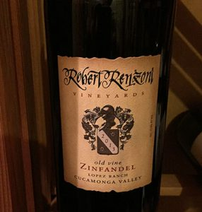 Robert Renzoni old vine Zinfandel Lopez Ranch, Cucamonga Valley, 2013